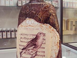 Бутылка в коже(имитация) | Ярмарка Мастеров - ручная работа, handmade