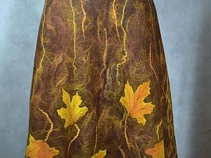 Мастер-класс: как свалять осеннюю юбку с кленовыми листьями | Ярмарка Мастеров - ручная работа, handmade