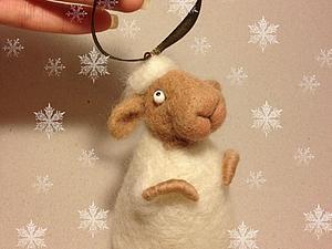 Валяем новогоднюю овечку. Ярмарка Мастеров - ручная работа, handmade.