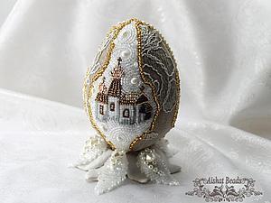 Мастер-класс по вышивке бисером пасхального яйца с подставкой. Ярмарка Мастеров - ручная работа, handmade.