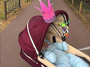 Мастерим корону на коляску для маленькой принцессы. Ярмарка Мастеров - ручная работа, handmade.
