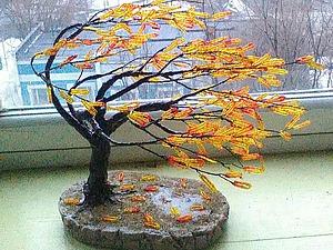 Делаем из бисера композицию «На ветру». Ярмарка Мастеров - ручная работа, handmade.