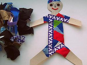 Делаем быстрые бумажные куклы (Курс молодого психолога). Ярмарка Мастеров - ручная работа, handmade.