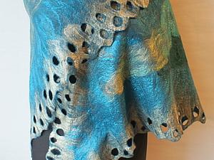 Палантин (шарф, бактус) из префельта   Ярмарка Мастеров - ручная работа, handmade