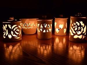 Волшебный новогодний подсвечник | Ярмарка Мастеров - ручная работа, handmade