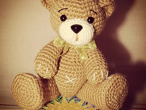 Как связать крючком миниатюрного медвежонка. Ярмарка Мастеров - ручная работа, handmade.