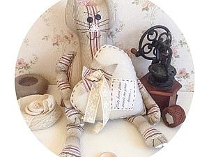 Шьем текстильного котика. Ярмарка Мастеров - ручная работа, handmade.