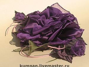 Цветы из ткани.Дикая роза.Мастер класс от Юлии Кумпан. | Ярмарка Мастеров - ручная работа, handmade