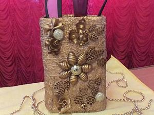 Видео мастер-класс: ваза-подставка из бинта и макарон. Ярмарка Мастеров - ручная работа, handmade.