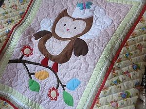 Приглашаю на аукцион: детское одеяло с совушкой | Ярмарка Мастеров - ручная работа, handmade
