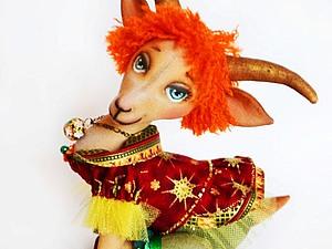 Мастер-класс Козочка Козетта. Символ 2015 года игрушка интерьерная коза | Ярмарка Мастеров - ручная работа, handmade