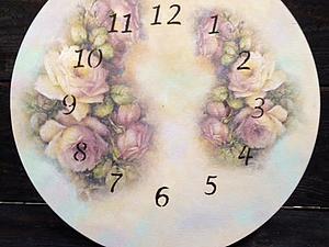 Художественный декупаж + эффект дымки - панно или часы, на выбор! | Ярмарка Мастеров - ручная работа, handmade