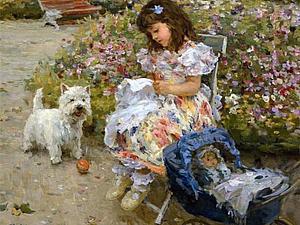 Вышивание в живописи, или С праздником, вышивальщицы!. Ярмарка Мастеров - ручная работа, handmade.