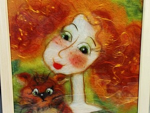 Шерстяная акварель НЕ ВАЛЯНИЕ! Екатерины Буянковой - создаем картину по мотивам работ В.Кирдий!   Ярмарка Мастеров - ручная работа, handmade