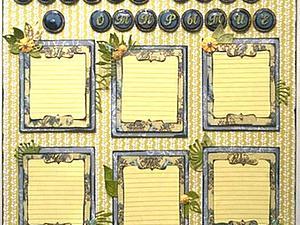 Расписание уроков в технике скрапбукинг. Ярмарка Мастеров - ручная работа, handmade.