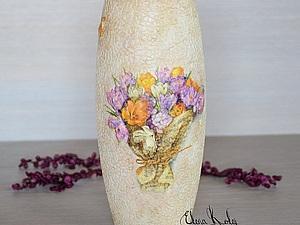 Декорируем вазу «Крокусы». Ярмарка Мастеров - ручная работа, handmade.