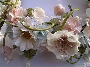 Цветы из ткани,Мастер-класс