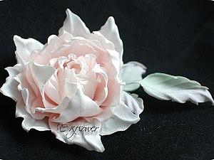 Мастер - класс по цветам из шелка. Роза