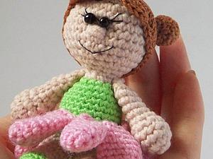Вяжем девочку-ромашку. Ярмарка Мастеров - ручная работа, handmade.