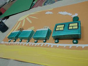Творческое занятие с детьми: делаем забавный паровозик. Ярмарка Мастеров - ручная работа, handmade.