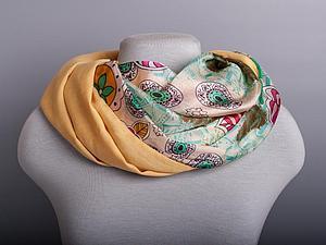 АКЦИЯ! -20% к Новому году на все шарфы с шелком. | Ярмарка Мастеров - ручная работа, handmade