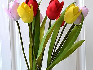 Создаем закрытый тюльпан из фоамирана | Ярмарка Мастеров - ручная работа, handmade
