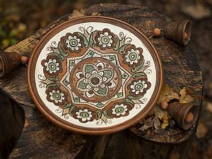 Аукцион на декоративную керамическую тарелку с колокольчиками. Шаг ставки любой! До 22:00 мв 17 марта! | Ярмарка Мастеров - ручная работа, handmade