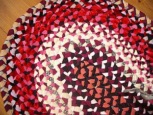 Коврик из косичек | Ярмарка Мастеров - ручная работа, handmade