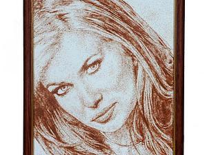 Аукцион! Ваш портрет из песка. | Ярмарка Мастеров - ручная работа, handmade
