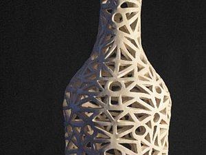 Ажурная бутыль | Ярмарка Мастеров - ручная работа, handmade