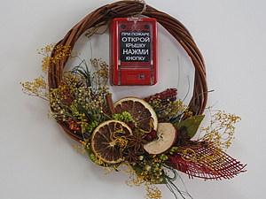 Венок – корона на голову или солнце на стену, handmade