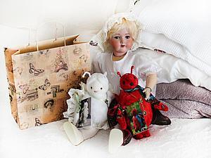 Боннет для куклы или мишки. Ярмарка Мастеров - ручная работа, handmade.