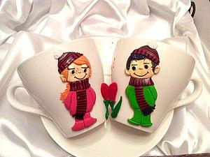 Декор чайных чашек полимерной глиной «Любовь это...весна круглый год». Часть 2. Ярмарка Мастеров - ручная работа, handmade.