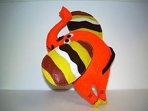 Шьем оранжевого слона из фетра. Ярмарка Мастеров - ручная работа, handmade.