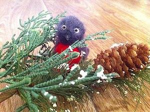 Снегирь - игрушка на елку | Ярмарка Мастеров - ручная работа, handmade
