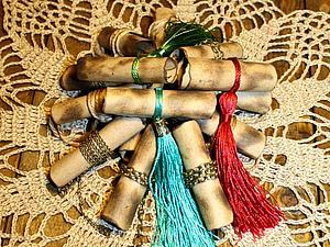Бирочки-свитки за 30 минут | Ярмарка Мастеров - ручная работа, handmade