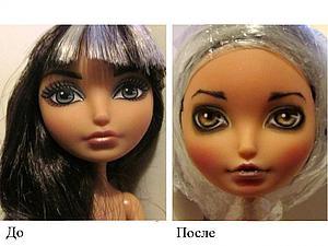 OOAK: перерисовка лица куклы | Ярмарка Мастеров - ручная работа, handmade