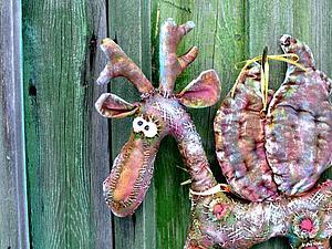 Шьем крылатого лося или... козлика. Ярмарка Мастеров - ручная работа, handmade.