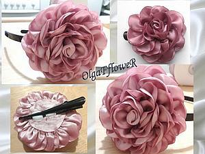 Изготовление розы из круглых лепестков. Ярмарка Мастеров - ручная работа, handmade.