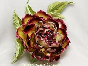 Цветы из шёлка.Мастер-класс.Роза Ребекка. | Ярмарка Мастеров - ручная работа, handmade