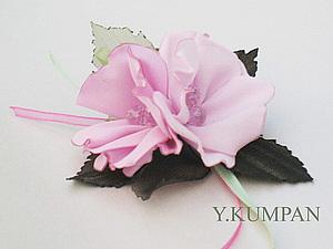 Цветы из ткани.Мастер-класс от Юлии Кумпан. | Ярмарка Мастеров - ручная работа, handmade