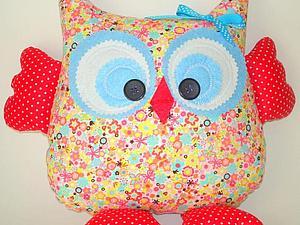Подушка-игрушка Веселая Сова - новинка нашей студии! | Ярмарка Мастеров - ручная работа, handmade