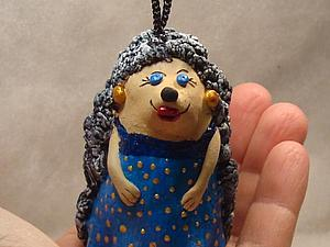 """Мастер-класс """"глиняный колокольчик Ежиха"""". Ярмарка Мастеров - ручная работа, handmade."""