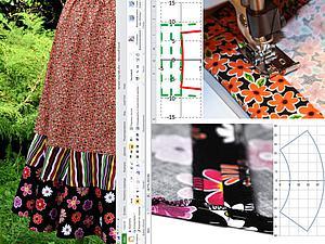 Мастер-класс: ярусная юбка воланами. От математической модели до реального воплощения. Часть третья, заключительная. Пошаговая инструкция по пошиву. Ярмарка Мастеров - ручная работа, handmade.