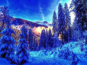 Завораживающие зимние краски... | Ярмарка Мастеров - ручная работа, handmade