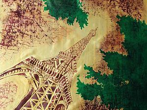 Расписываем шелковый платок «Париж». Ярмарка Мастеров - ручная работа, handmade.