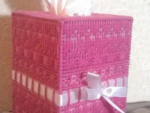 Делаем салфетницу из пластиковой канвы. Ярмарка Мастеров - ручная работа, handmade.