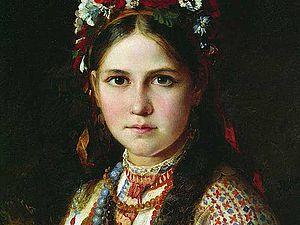 Традиционный украинский костюм. Часть первая: живопись. Ярмарка Мастеров - ручная работа, handmade.