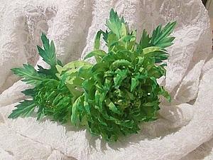 Хризантема из ткани своими руками | Ярмарка Мастеров - ручная работа, handmade