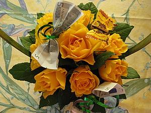 Корзинка с розами. Подарочный вариант.. Ярмарка Мастеров - ручная работа, handmade.
